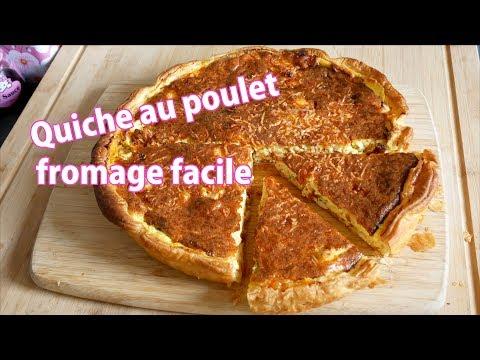 quiche-poulet-fromage-facile-et-rapide-🧀