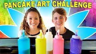 PANCAKE ART CHALLENGE!!! (MattyBRaps vs Sierra Haschak) thumbnail