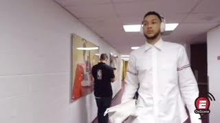 Ben Simmons arrives for his first NBA game | OnScene | ESPN