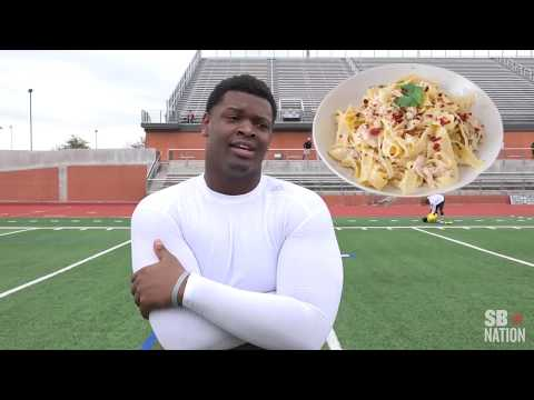 Michigan's Aubrey Solomon has a passion for cooking and football