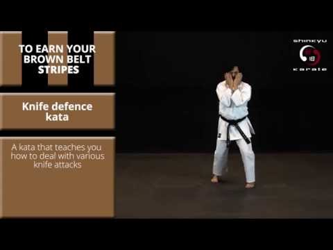 Train At Home: Kata #7 - Knife Defence Kata - Grading to 1st Kyu (Brown Belt with 2 Black Stripes)