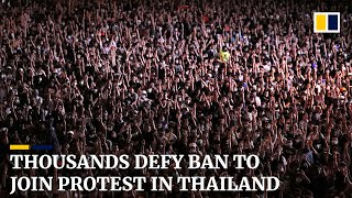 Thousands defy gathering ban to attend pro-democracy protest in Thailand