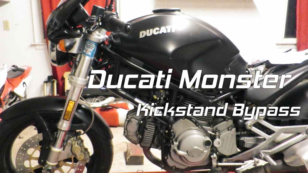 ducati monster kickstand bypass switch back in the garage [ 1280 x 720 Pixel ]