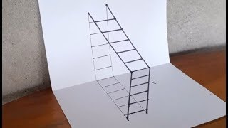 TyTy Kids Tv | How to Draw a 3D Ladder - Trick Art For Kids