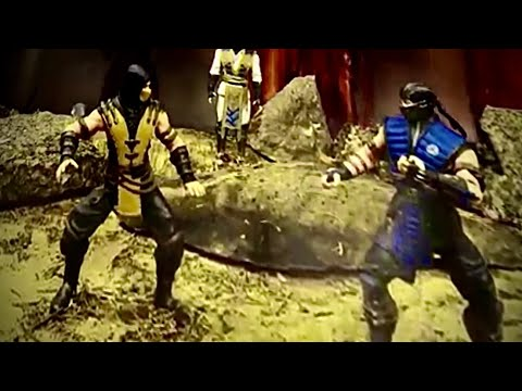 scorpion vs sub zero #1 stop motion scorpion contra sub zero mortal kombat King 809 by EUCLIDES
