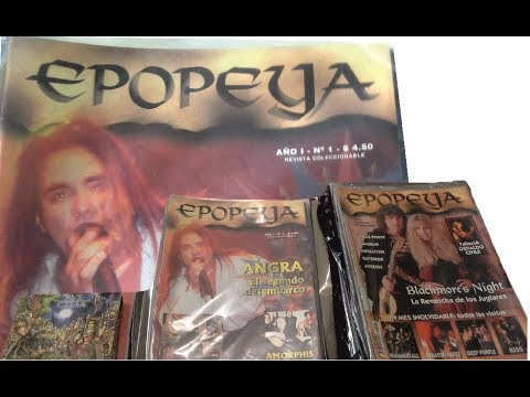 revista Epopeya - Editorial Llamoso - Difusion de heavy rock - Argentina