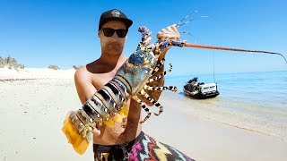 GIANT CRAYFISH SURF & TURF Catch And Cook (R U OK?) - Ep 122