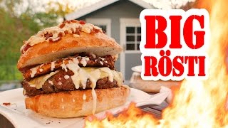 Big Rösti - Johnny vs. Fastfoodkette - BBQ Grill Rezept Video - Die Grillshow 239