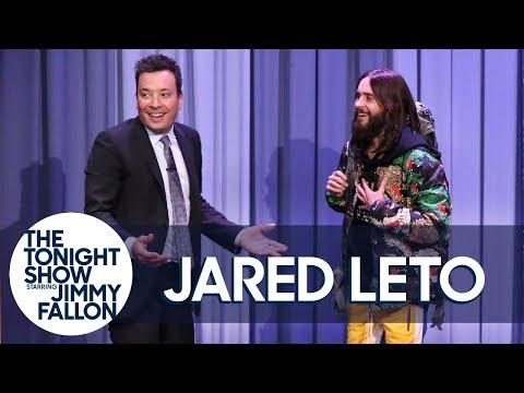 Jared Leto Hitchhikes Through The Tonight