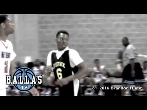 6'1 2016 Brandon Hurst Hoopmountain and Basketbull highlights