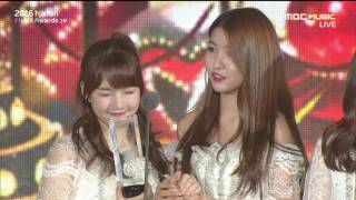 161119 2016 melon music awards best female dance performance gfriend cut