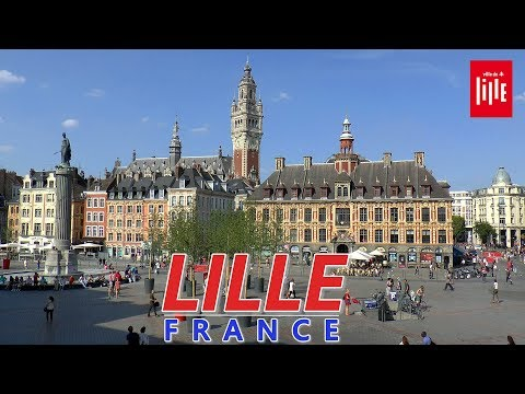 NEW!  LILLE │ FRANCE - Complete walking tour of Lille. HD