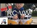 ?? ?? Maisto RC Volkswagen transporter retró busz kicsomagolás és teszt | Autós videó gyerekeknek