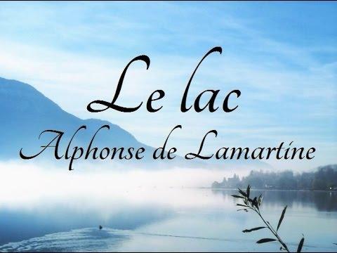 Le Lac Alphonse De Lamartine Poème Illustré