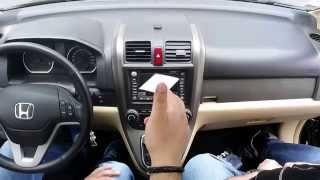 Снятие магнитолы Хонда CR-V 2007-2011.Removing the radio Honda CR-V 2007-2011