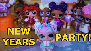 LOL SURPRISE DOLLS New Years Party!