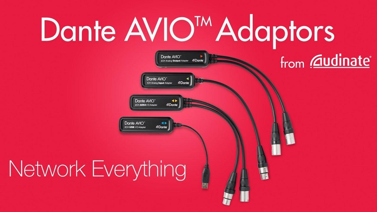Dante AVIO Audio Network Adapters | Audinate