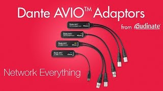 Introducing Dante AVIO Adapters - Network Everything