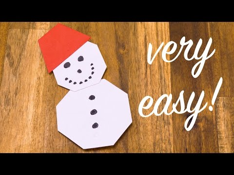 How to Make Origami Snowman Easy but Cool for Kids | Christmas ... | 360x480