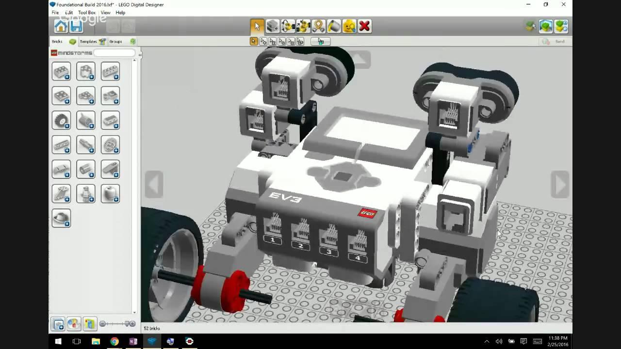 Lego ev3 foundational build and lego digital designer youtube lego ev3 foundational build and lego digital designer pronofoot35fo Images