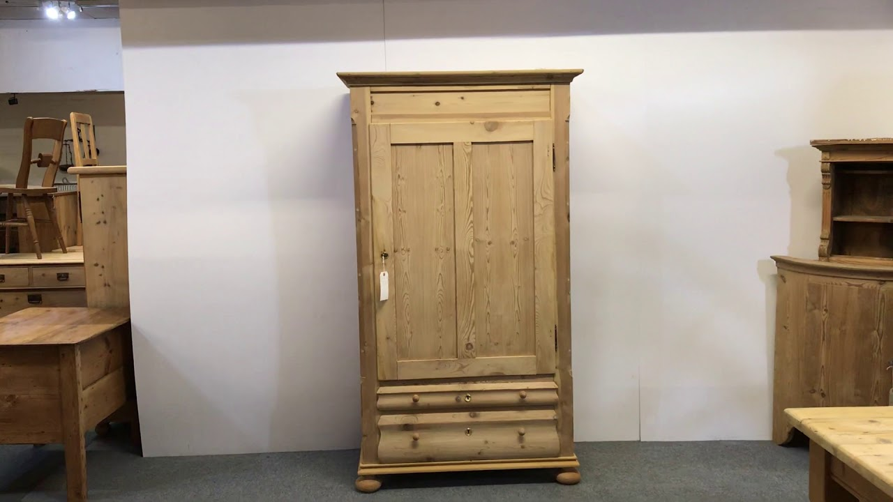 Tall & Slender Antique Pine Danish Linen Cupboard - Pinefinders Old Pine  Furniture Warehouse - Tall & Slender Antique Pine Danish Linen Cupboard - Pinefinders Old