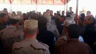 أجتمع اللواء كامل الوزير المشرف على قناة السويس الجديدة مع المقاولين