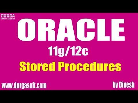 Oracle Stored Procedures