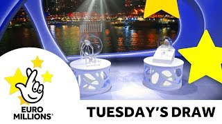 The National Lottery Tuesday 'EuroMillions' draw results from 19th June 2018