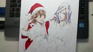 Speed Drawing - QUARTET NIGHT (Uta no Prince-Sama!) CHRISTMAS