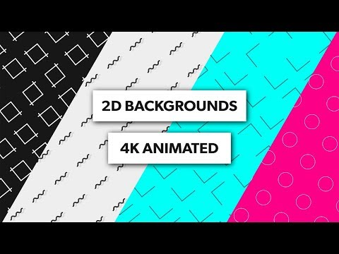 (FREE 4K) 2D Animated Backgrounds - After Effects, Sony Vegas, Blender, Kinemaster | 4K Loops
