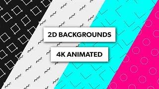 (FREI 4K) 2D-Animierte Hintergründe - After Effects, Sony Vegas, Blender, Kinemaster | 4K Schleifen