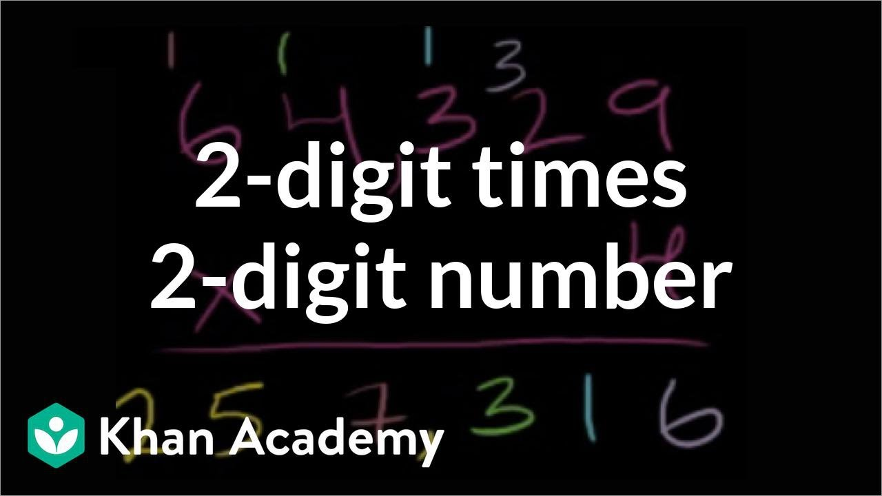 Multiplying 2-digit by 2-digit: 36x23 (video) | Khan Academy