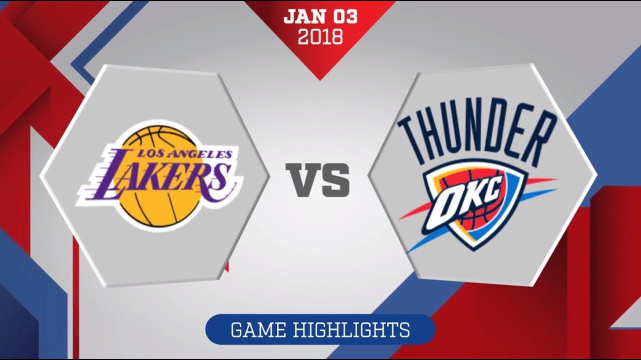 OKC Thunder take on Los Angeles Lakers in second night of a back ...