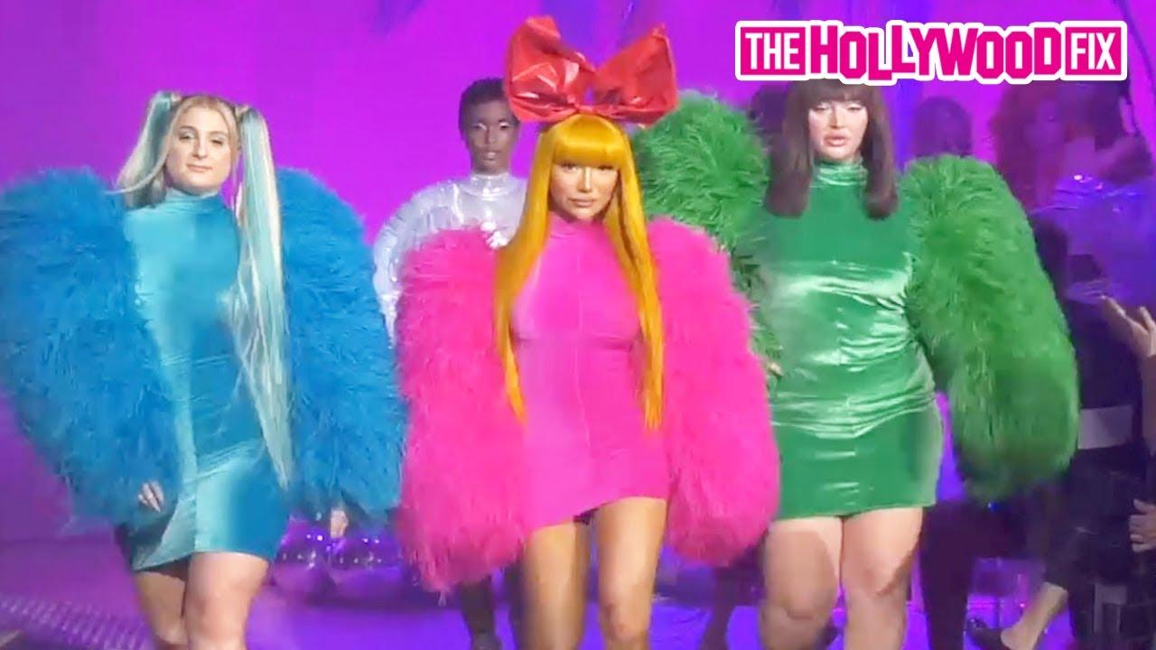Nikita Dragun, Meghan Trainor & Delilah Hamlin Shut Down The Runway At The Christian Cowan Show