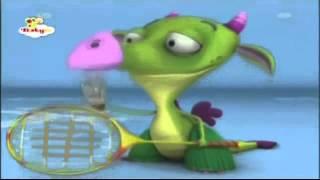 Draco El Dragon esta jugando badminton - Baby Tv Latino