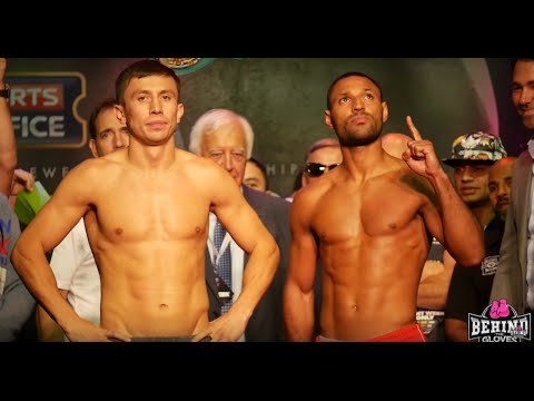 BIG DRAMA SHOW!!! GOLOVKIN VS BROOK OFFICIAL WEIGH IN!!!/ GGG LOOKS ANGRY!