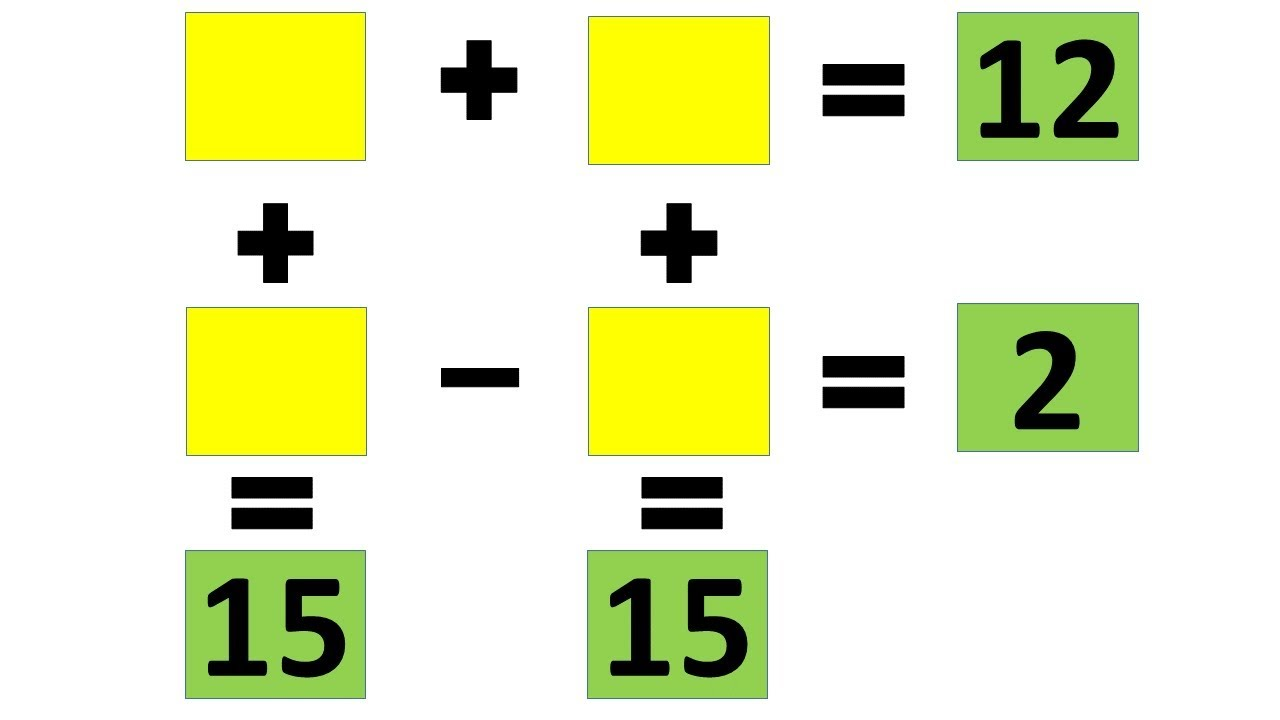 3 Quick Maths Puzzles with Answers – Use Strategic Thinking