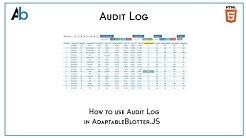 AdaptableBlotter.JS Audit Log