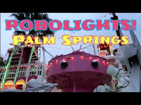 #855 ROBOLIGHTS World's Greatest Roadside Art Attraction!?- Daily Travel Vlog (12/9/18)