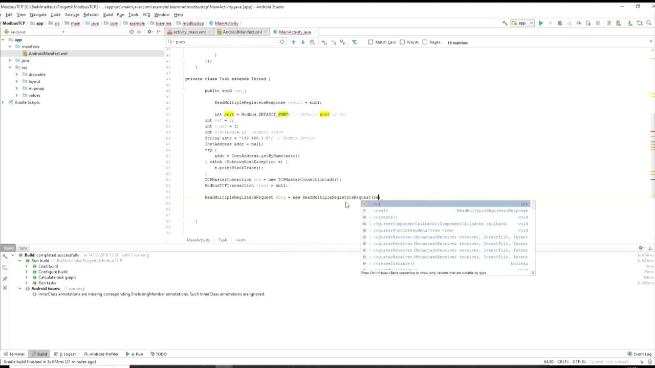 Arduino Android communication through modbus tcpBieMme Italia