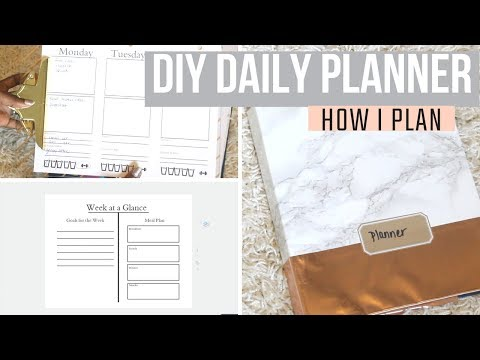 How I Made My Planner: DIY Daily Planner with Binder Notebook and Printables