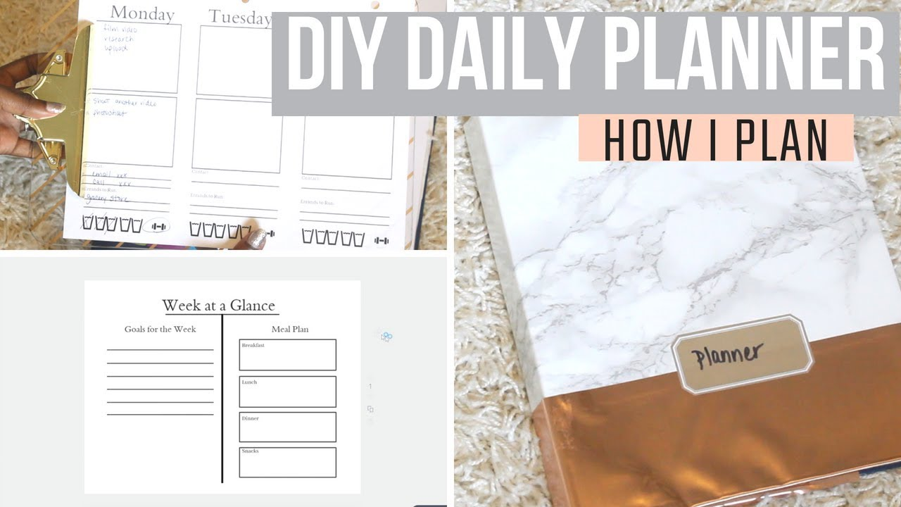 picture regarding Diy Daily Planner called How I Manufactured My Planner: Do-it-yourself Day-to-day Planner with Binder Laptop computer and Printables