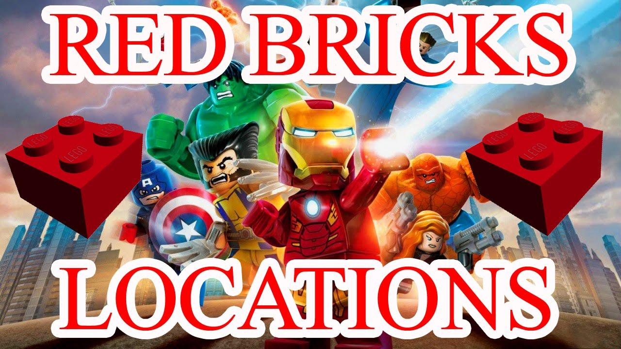 marvel lego red bricks