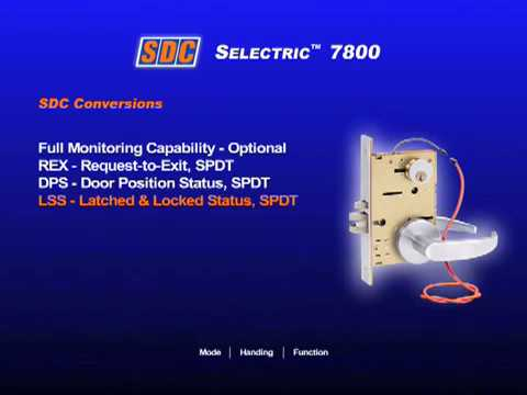 SDC 7800 Selectric Electric Mortise Lock Electrified Features Demo