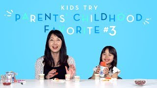 Suvi Tries Her Mom's Favorite Childhood Snack | Kids Try | HiHo Kids