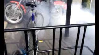 Burnout inside McDonalds with a Harley Davidson - Then has an argument with management!
