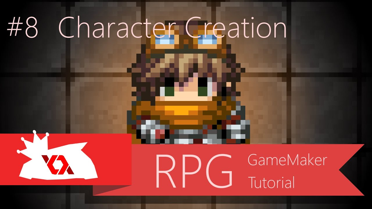 game maker tutorial rpg 8 character creation 1 2