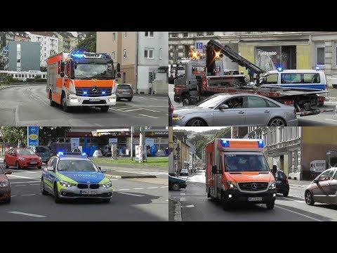 [Schwerer Busunfall in Hagen - MANV] 12 Verletzte - Einsatzfahrten zu VU mit Bus in Hagen Eilpe