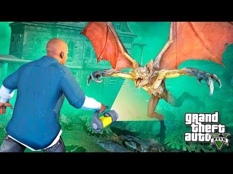 СТРАШНЫЙ МОНСТР В ЗАБРОШЕННОМ ЛЕСУ НАПАЛ НА МЕНЯ В GTA 5 МОДЫ! ОБЗОР МОДА GTA 5 (GTA 5 Mods)