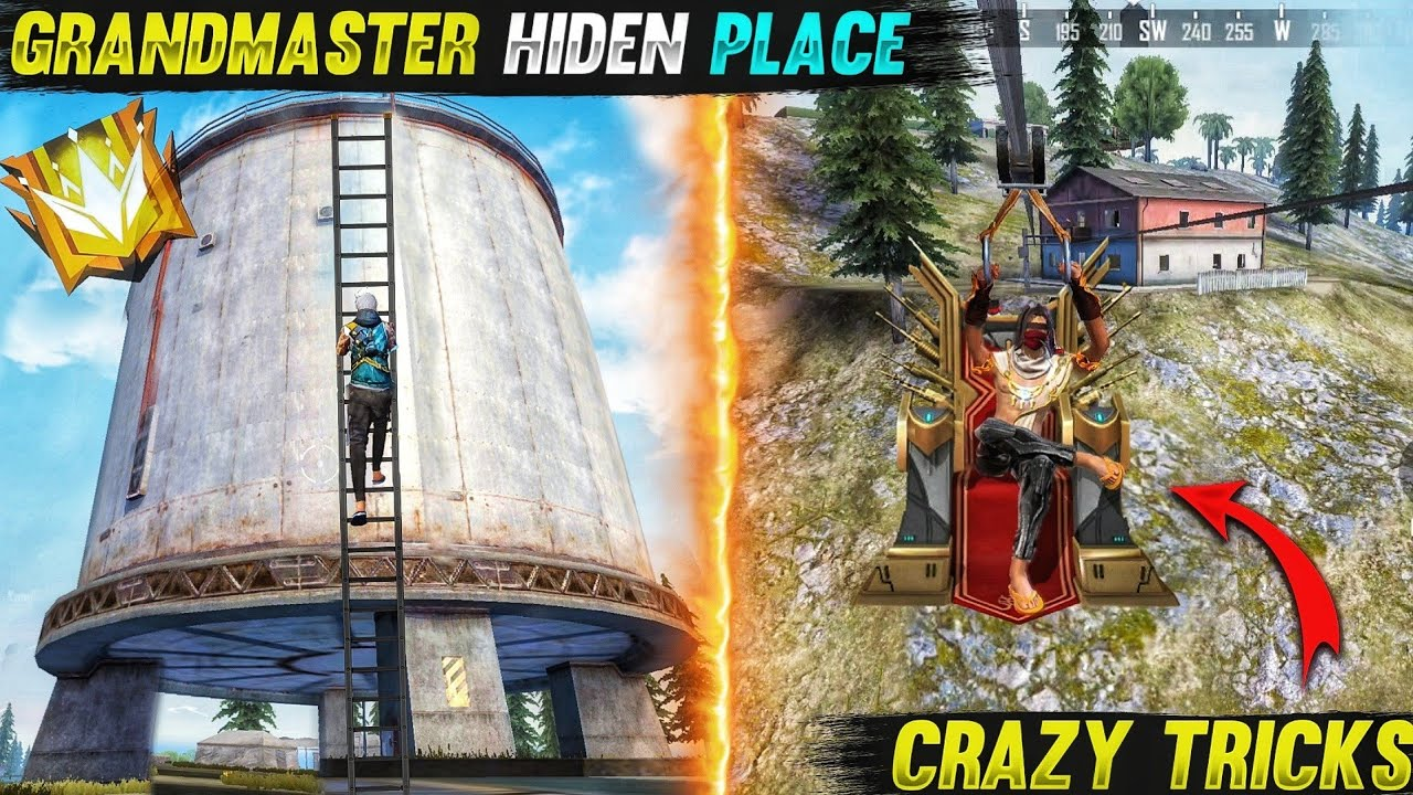 Top 5 New Unknown Tricks in free fire || 5 Secret Crazy tricks and Grandmaster Hiden places